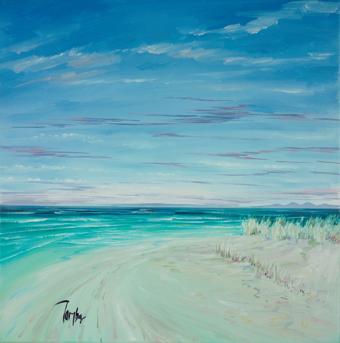 White Sands Argyll I by tom barron -  sized 24x24 inches. Available from Whitewall Galleries
